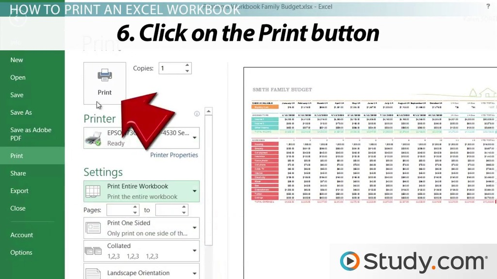 Printing in Excel How to Configure Workbooks to Print - Video - how to make a sign in sheet using excel