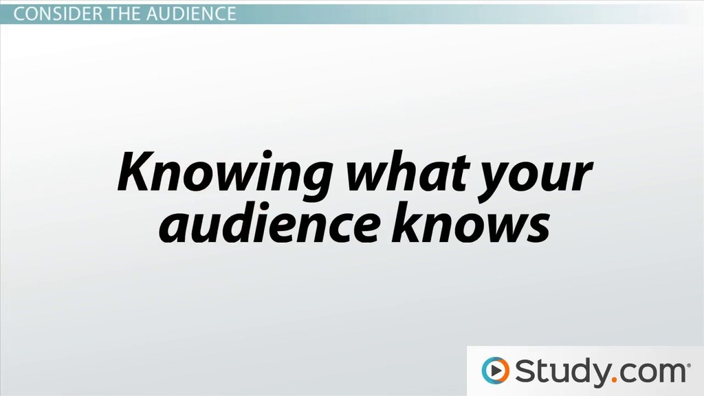 The Style of a Speech Speaker, Audience  Purpose - Video  Lesson - how do you determine or evaluate success