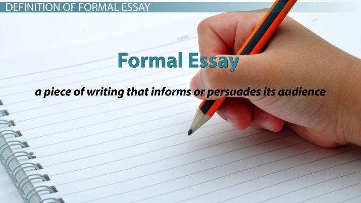 Formal Essay Definition  Examples
