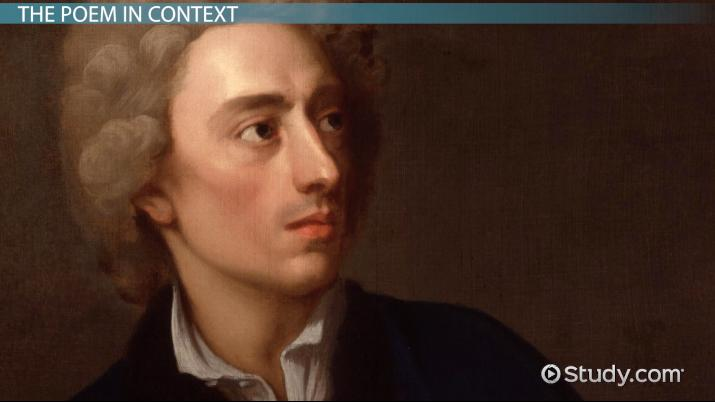 Alexander Pope\u0027s An Essay on Man Summary  Analysis - Video - know then thyself presume not god to scan