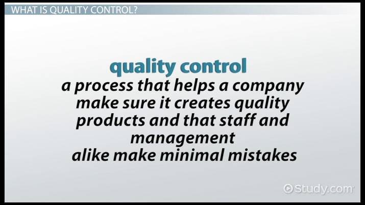 Four Types of Quality Control - Video  Lesson Transcript Study