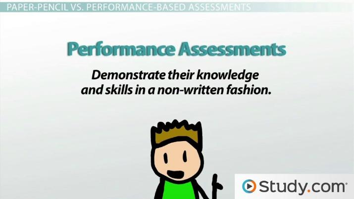 Forms of Assessment Informal, Formal, Paper-Pencil  Performance