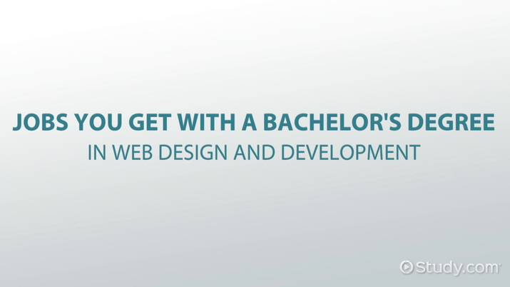 Jobs You Get With a Bachelors Degree in Web Design and Development