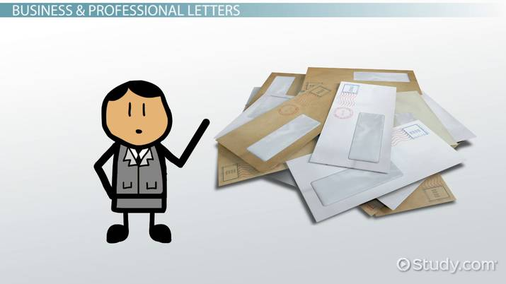Types of Letter Writing - Video  Lesson Transcript Study