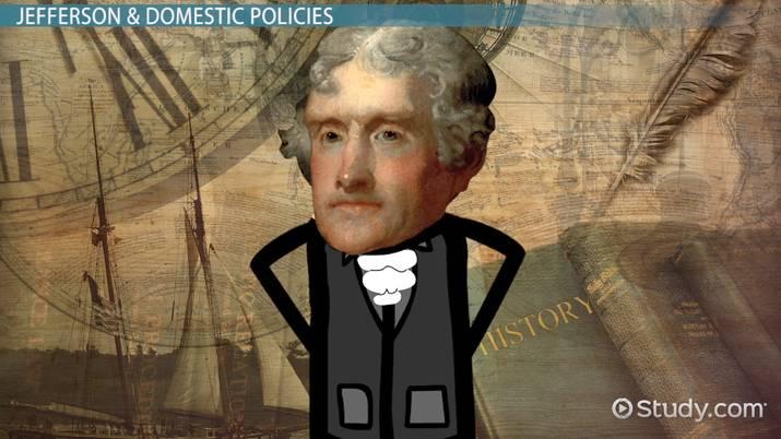 Thomas Jefferson Domestic, Economic  Foreign Policies - Video