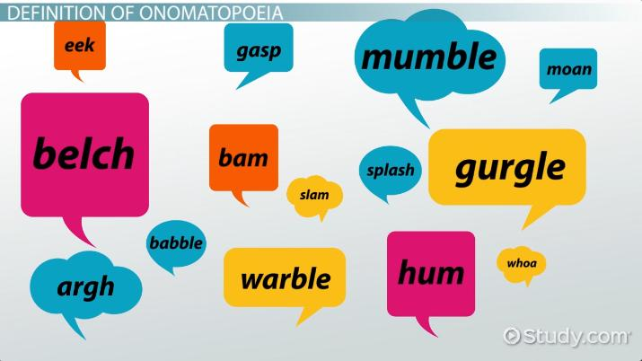 Onomatopoeia in Literature Definition  Examples - Video  Lesson - examples of
