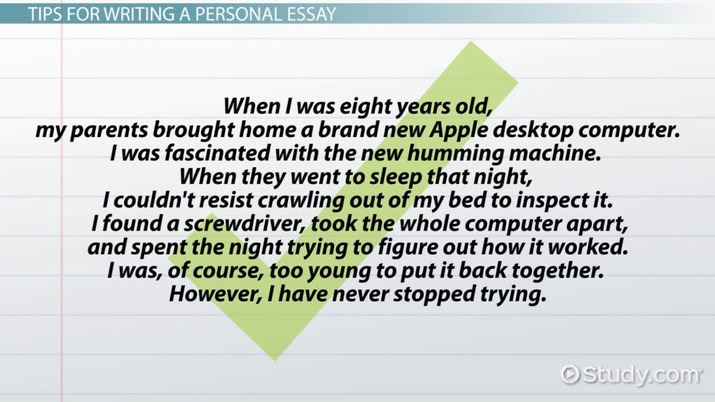 Personal Essay Definition, Format  Examples - Video  Lesson - Personal Essay