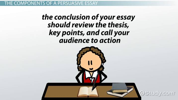 Components of Writing a Persuasive Essay - Video  Lesson Transcript