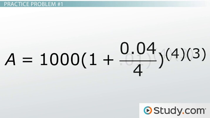 Compounding Interest Formulas Calculations  Examples - Video