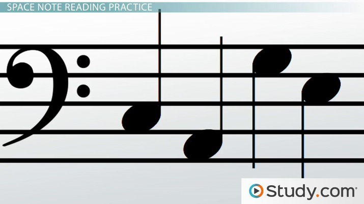 How to Read Notes of the Bass Clef Staff - Video  Lesson Transcript
