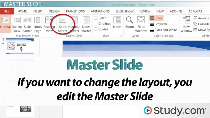 Understanding PowerPoint Slide Masters and Layouts - Video  Lesson
