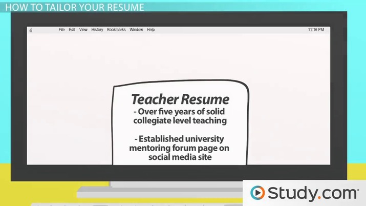 Tailoring the Content of Your Resume for a Job - Video  Lesson
