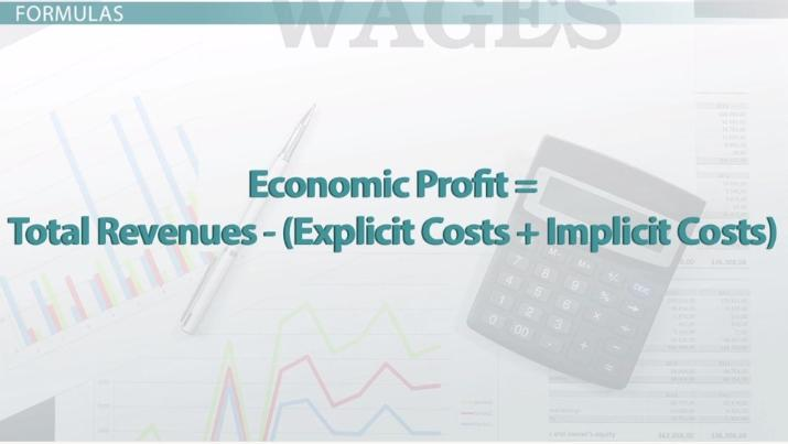 How to Calculate Economic Profit Definition  Formula - Video - profit & loss template free