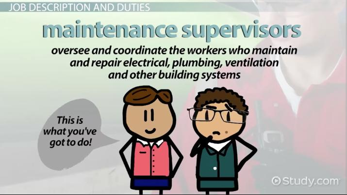 Maintenance Supervisor Job Description, Duties and Requirements