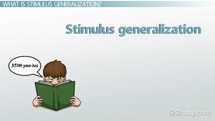 Stimulus Generalization Definition  Examples - Video  Lesson