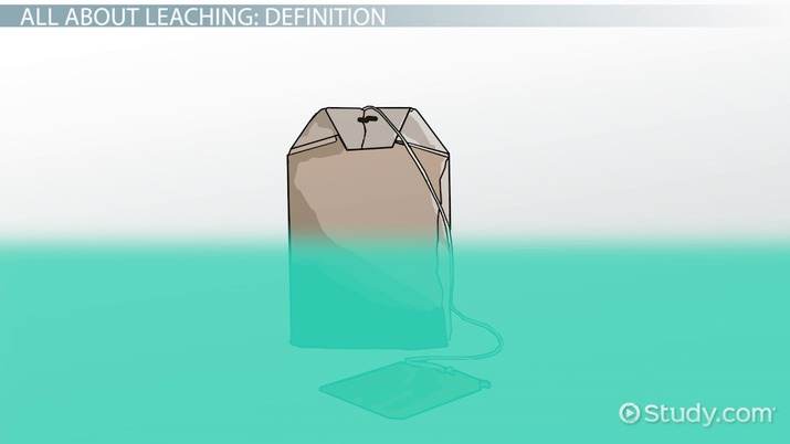 Leaching Definition  Process - Video  Lesson Transcript Study