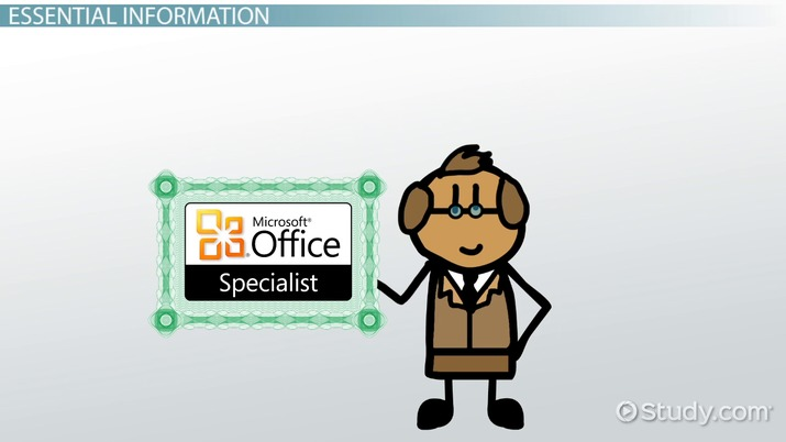 Microsoft Office Specialist How Do I Become Certified?