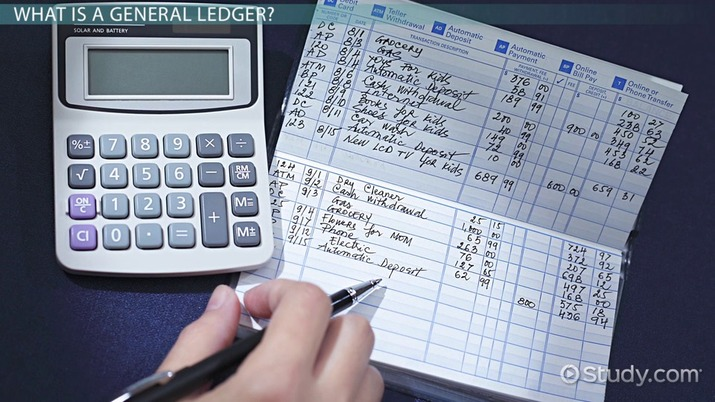 What Is a General Ledger? - Definition  Examples - Video  Lesson