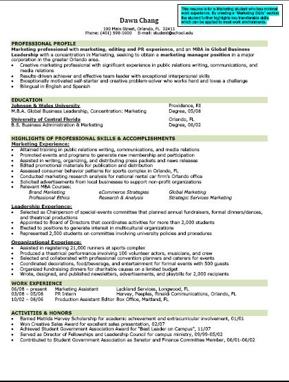 sample resume for mba finance with experience