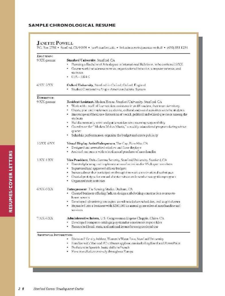sample resume for student