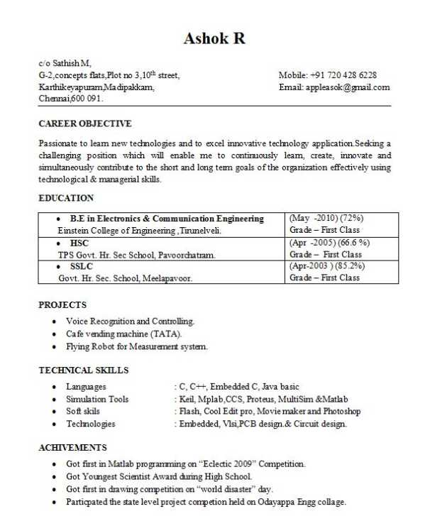 Resume Format For Freshers Job Resume Format Question And Answers  Freshersworld