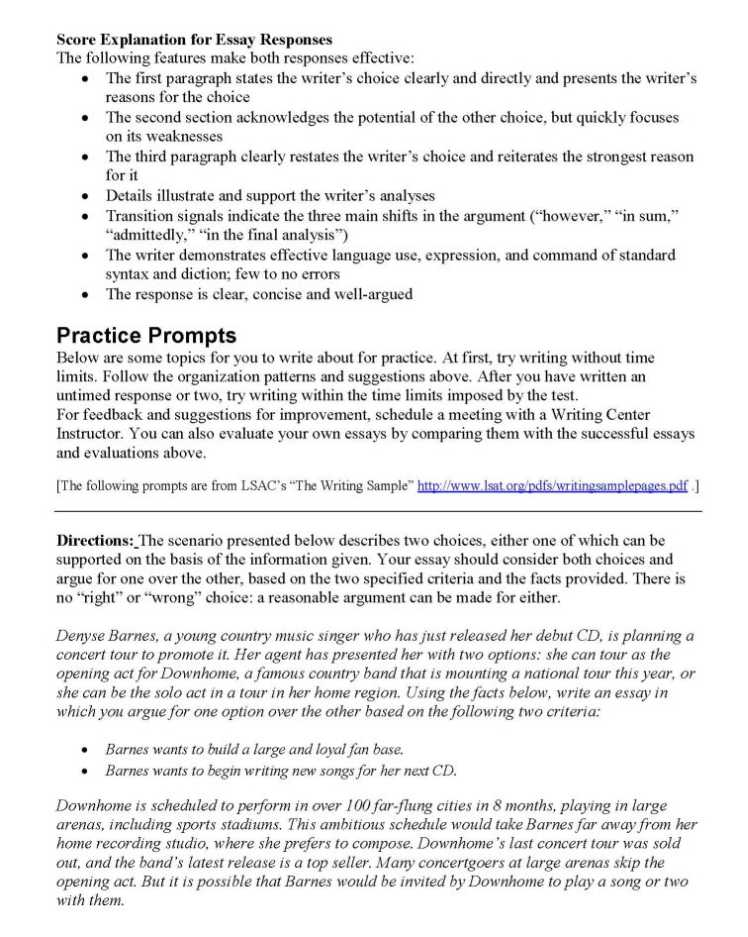 2018-2019 StudyChaCha - View Single Post - Sample LSAT Writing Section
