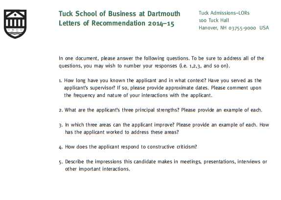 mba resume - mba recommendation letter