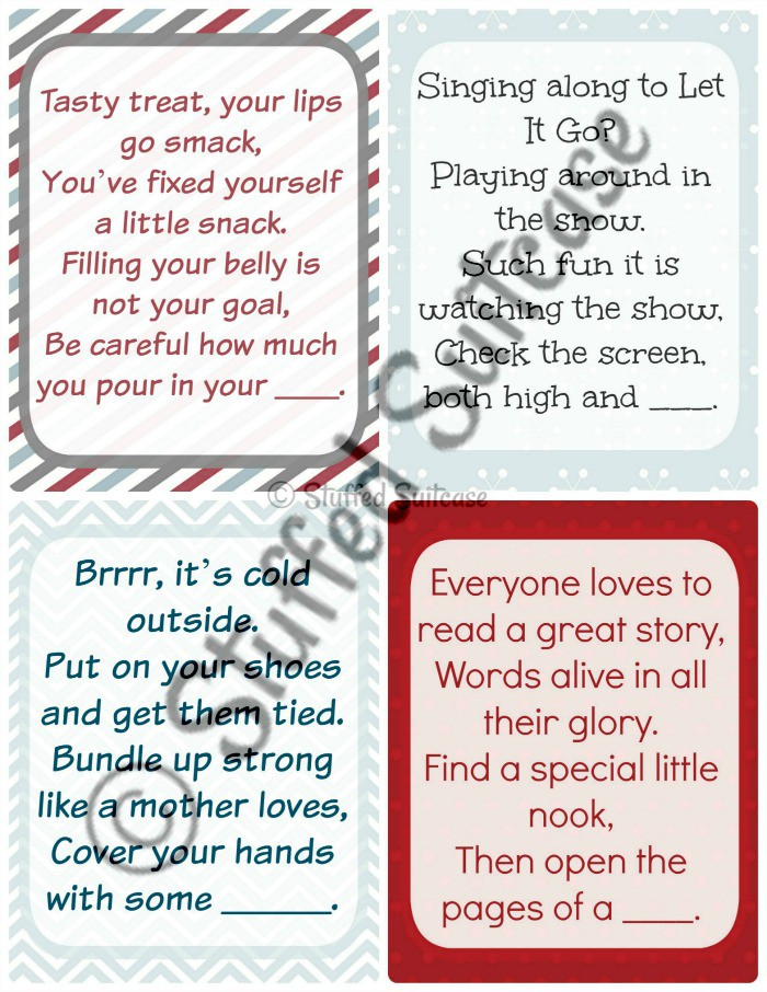 Christmas Scavenger Hunt Clues - More Family Tradition Fun!