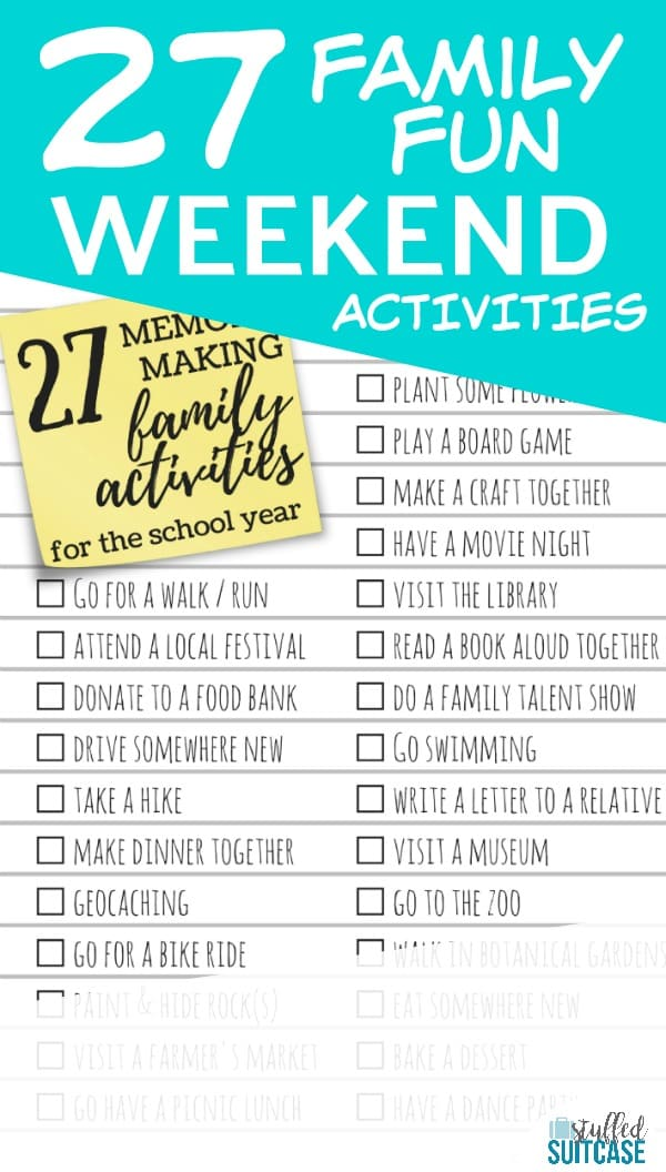 27 Memory Making Activities to Do with Your Kids During the School Year