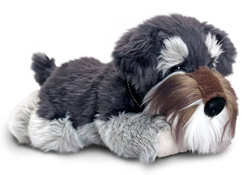 Fur Babies World Toys Schnauzer Dog Soft Plush Toy 30cm Stuffed Animal Keel
