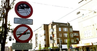 no weed sign in netherlands amsterdam weed marijuana ban