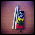 2 joints for breakfast and a rasta peace lighter