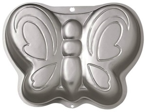 Butterfly shaped cake pan