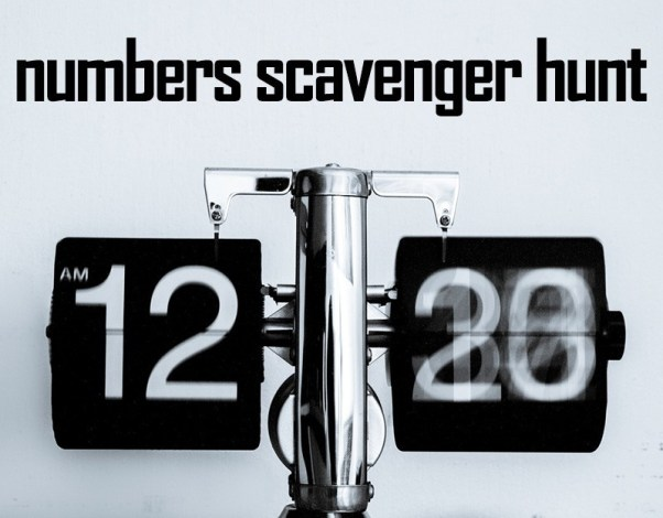 Numbers Scavenger Hunt