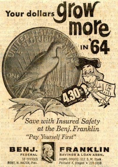 STUMPTOWNBLOGGER: BENJ. FRANKLIN SAVINGS & LOAN IN 1964