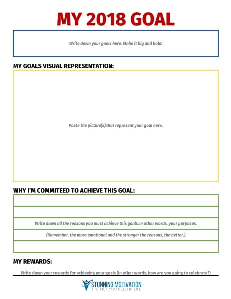 11 Effective Goal Setting Templates for You - goal planning template