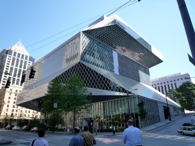 The Seattle Central Library designed by OMA & LMN Architects. Saved from en.wikipedia.org
