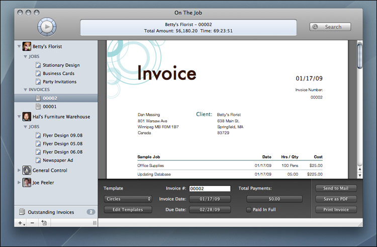 On The Job - Professional Time  Expense Tracking and Invoicing
