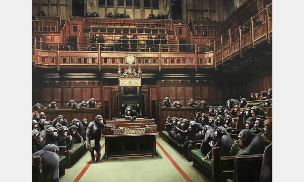 Tour De Lit Design Look! Banksy's 'devolved Parliament' Goes On Display In