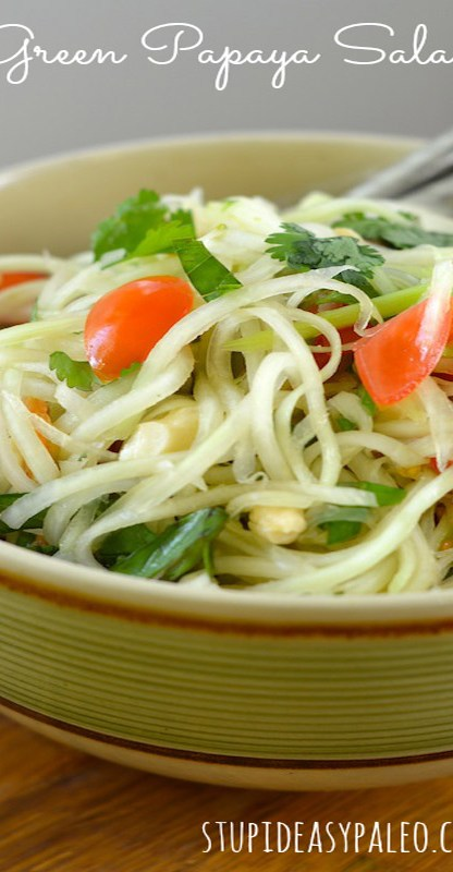 Green Papaya Salad | stupideasypaleo.com