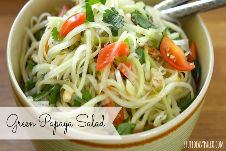 Paleo Green Papaya Salad