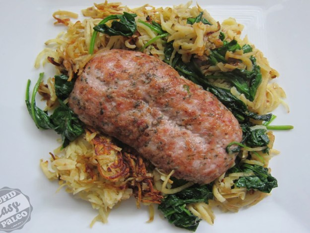 Sweet Potato, Sausage and Spinach | stupideasypaleo.com
