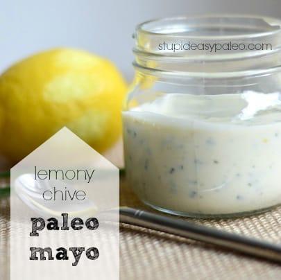 Lemony Chive Paleo Mayo | stupideasypaleo.com