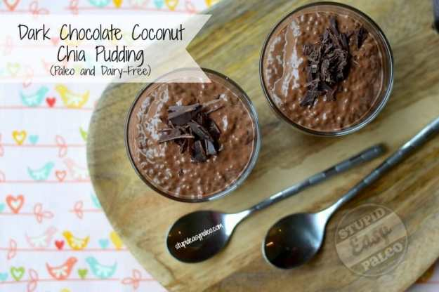 Chocolate Coconut Chia Pudding | Stupid Easy Paleo