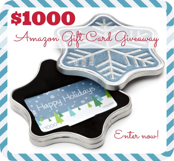 $1000 Amazon Gift Card December Giveaway | stupideasypaleo.com