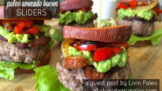 Paleo Avocado Bacon Sliders | stupideasypaleo.com