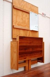 Build Folding Wall Desk Woodworking Plans DIY diy ...