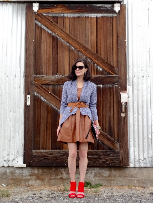 Leather Dress + Sweater 5a