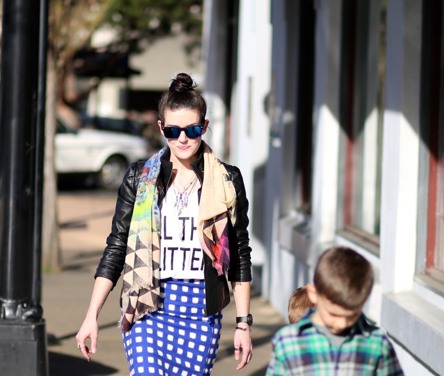 Blue Check Skirt 11a