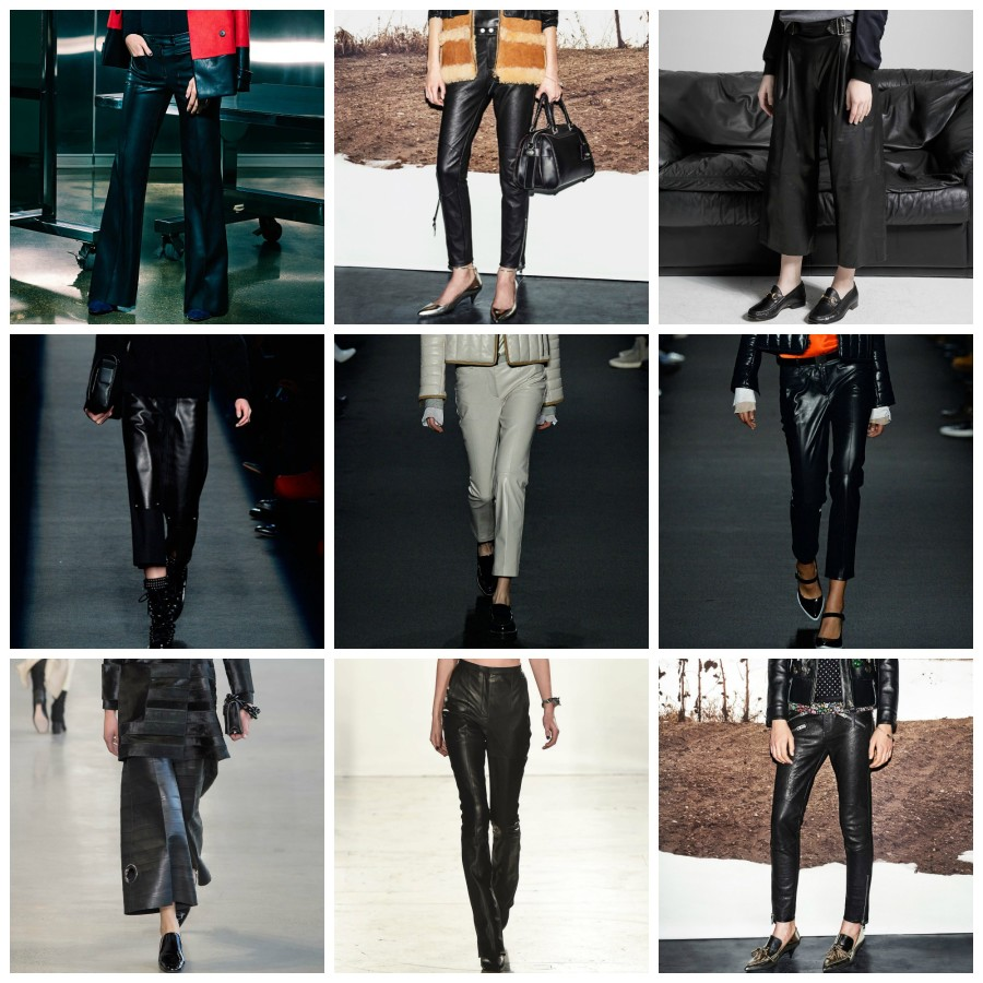 LEATHER PANTS nyfw fw15